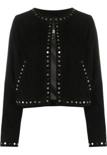 Just Cavalli Studded Fitted Jacket - Preto