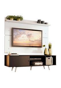 Rack Madesa Dubai E Painel Para Tv Até 65 Polegadas Com Pés Preto/Branco 8N09 Mdes0200148N09