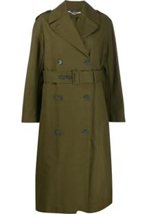 Stella Mccartney Trench Coat Com Cinto - Verde