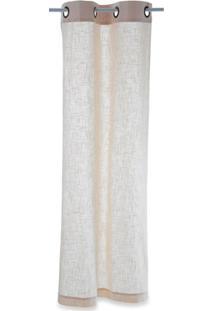 Cortina Em Algodão Linen Branca 170X80Cm