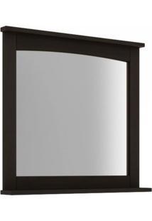 Espelheira Para Banheiro Com Prateleira 78Cm Mission Mão E Formão Nogueira
