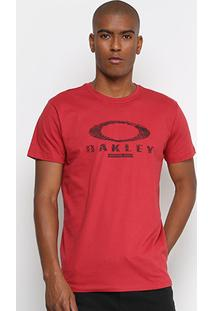 Camiseta Oakley Mod Finger Print Logo Masculina - Masculino