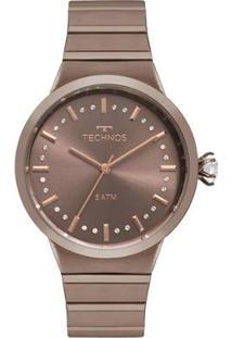 Relógio Technos Icon Feminino - Feminino-Marrom
