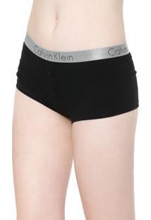 Calcinha Calvin Klein Underwear Boxer Radiant Preta