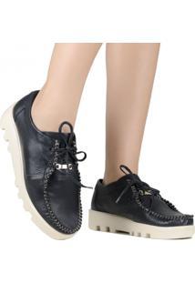 Sapato Zariff Shoes Mocassim Couro Preto