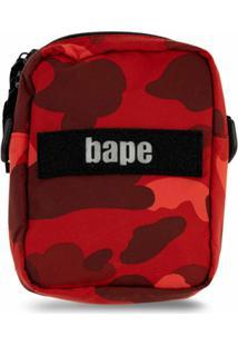 A Bathing Ape® Bolsa Tiracolo Colour Camo - Vermelho