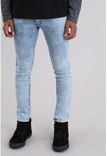 Calça Jeans Skinny Com Algodão + Sustentável Azul Claro