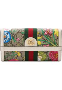 Gucci Carteira Com Estampa Floral - Neutro