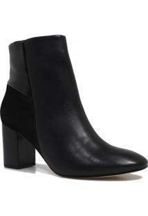 Bota Zariff Shoes Ankle Boot Zíper Preto