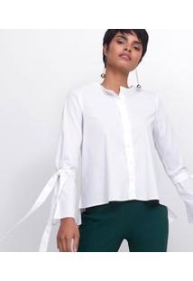 Camisa Em Tricoline Com Amarração