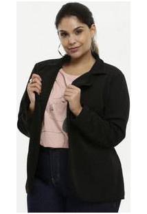 Blazer Feminino Textura Plus Size Luktal