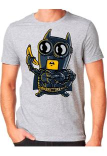 Camiseta Bat Minion Geek10 - Cinza