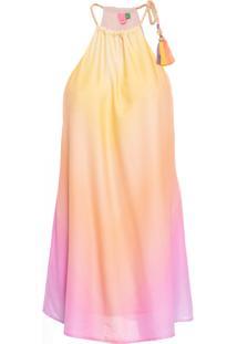 Vestido Curto Marau Degradê - Amarelo