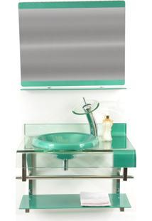 Gabinete De Vidro 70Cm Para Banheiro Turquia Verde Ekasa