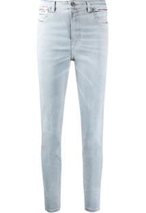 Diesel Calça Jeans Slim Babhila Cintura Alta - Azul