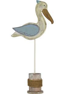 Enfeite Pelicano Azul Grande Kasa Ideia