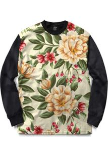 Blusa Bsc Beautiful Flowers Full Print - Masculino