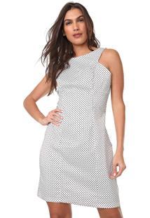 Vestido Mercatto Curto Poás Branco/Preto