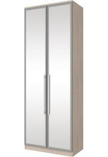 Guarda Roupa Modulado Com Espelho 2 Portas 3 Gavetas Diamante Henn Fendi