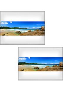 Jogo Americano Colours Creative Photo Decor - Panorâmica De Praia - 2 Peças