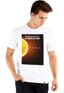 Camiseta Ouroboros Terra Uno Masculina - Masculino-Branco