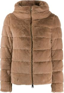 Herno Faux-Fur Padded Jacket - Neutro