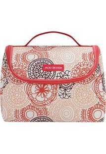 Bolsa Térmica Mandala- Salmão & Branca- 16X22X12Cmjacki Design