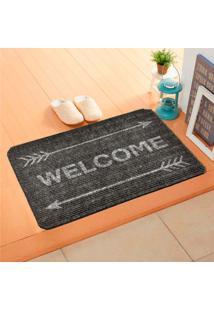 Capacho Carpet Welcome Com Flechas Cinza