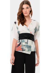 Blusa Estampada Com Cinto Kyoto - Lez A Lez