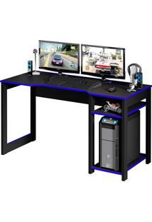 Mesa Para Escritório Gamer Me4152-Tecno Mobili - Preto / Azul