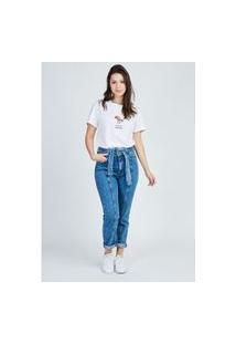 Calça Jeans Mom Clochard Recorte Gang Feminina