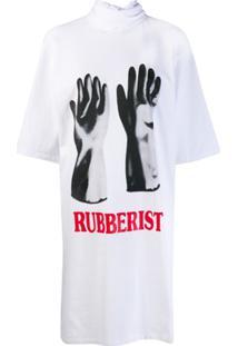 Christopher Kane Vestido Rubberist Com Amarração - Branco