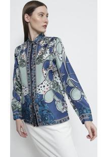 6b3a7838be Camisa Algodao Arabescos feminina