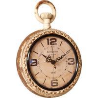 6d970a871d9 Relógio De Parede Decorativo Louvre De Metal Envelhecido