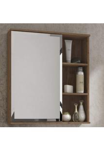 Espelheira Para Banheiro 1 Porta 3 Prateleiras Treviso Mgm Móveis
