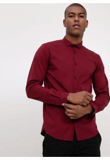 Camisa Básica Com Elastano