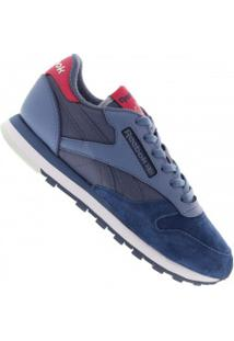 -40% Tênis Reebok Cl Leather Eb - Feminino - Azul Escuro d4b38ef148205