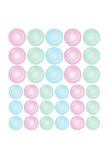 Adesivo Decorativo Vidro Box Banheiro Bolhas Coloridas 71Un