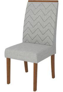 Cadeira Áurea 2 Peças - Rústico Terrara Com Linho Claro
