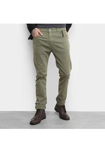Calça Ellus 2Nd Floor Soft Color Mike Masculina - Masculino-Verde Militar