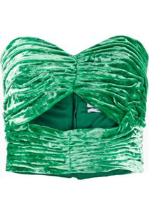 Attico Blusa Tomara Que Caia Cropped - Verde