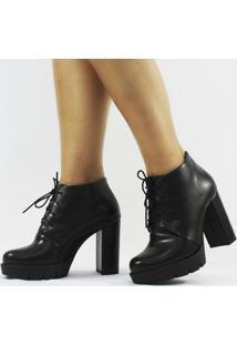Ankle Boot Carrie Napa Feminino - Feminino-Preto