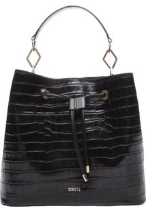 New Bucket Bag Croco Black | Schutz