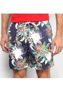 Shorts Colcci Estampado Floral Masculino - Masculino-Colorido