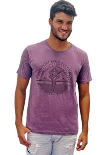Camiseta Joss Estonada Newport Folk Festival Roxo