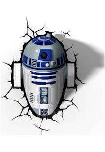 Luminaria R2-D2 3D Plastico Branco