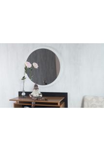 Espelho Para Banheiro Redondo Branco Diâmetro 70Cm - Paul