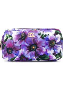 Dolce & Gabbana Necessaire Com Estampa Floral - Roxo