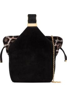 Bienen Davis Bolsa Bucket Kit De Couro Com Animal Print - Preto