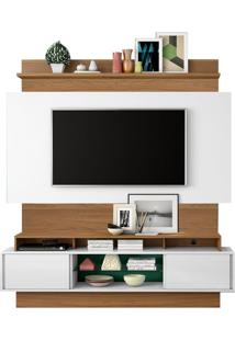 Estante Home Theater S/ Led Para Tv Hades Off White | Freijó